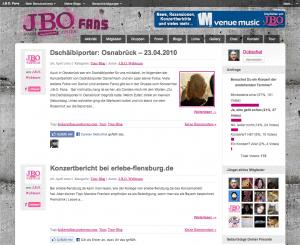 Screenshot J.B.O. Fans
