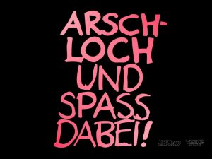Wallpaper: Arschloch und Spass dabei!