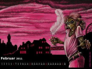 Der Killeralbum-Wallpaper-Kalender im Februar 2011