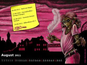 Wallpaper: Killer-Kalender August 2011