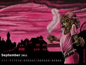 Wallpaper: Killerkalender September 2011