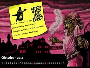 Wallpaper: Killerkalender Oktober 2011