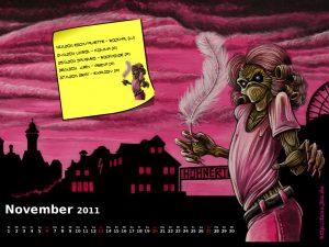Wallpaper: Killerkalender November 2011