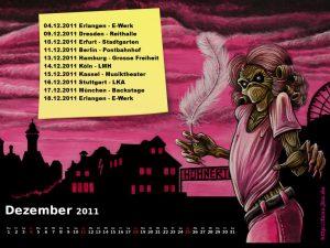 Wallpaper: Killerkalender Dezember 2011
