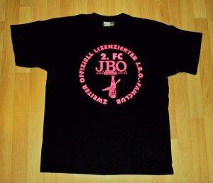 Das J.B.O. Fanclub Shirt - die unveränderte Vorderseite…