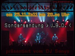 Banner: J.B.O. Sondersendung Radio Zickenpower