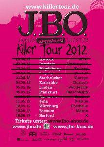Killer Tour 2012 - Flyer