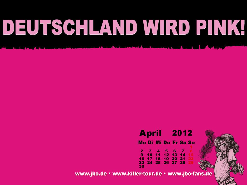 Wallpaper-Kalender April 2012