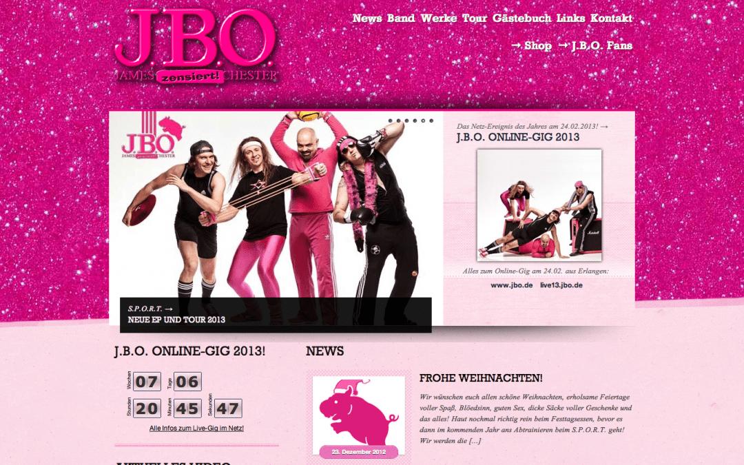 Relaunch der offiziellen Homepage und Online-Gig!