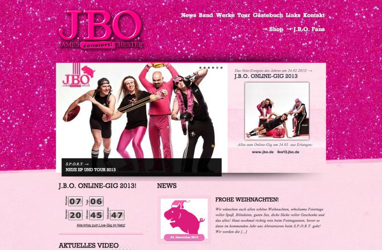 Die neue J.B.O. Homepage