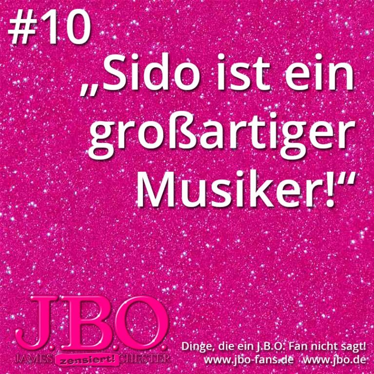 """Dinge, die ein J.B.O. Fan nicht sagt #10: """"Sido ist ein großartiger Musiker!"""""""