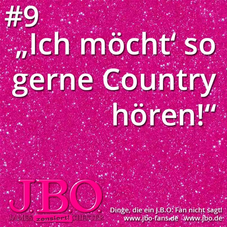 """Dinge, die ein J.B.O. Fan nicht sagt #9: """"ich möcht' so gerne Country hören!"""""""
