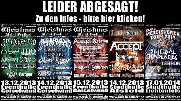 Christmas Metal Festival abgesagt :(