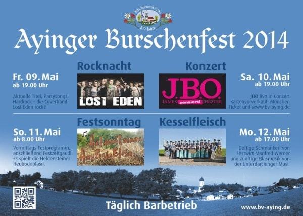 J.B.O. @ Ayinger Burschenfest 2014 in Aying