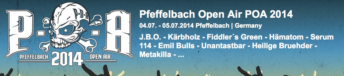 J.B.O. @ Pfeffelbach Open Air 2014