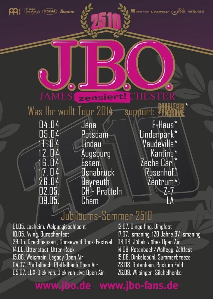 J.B.O. Was Ihr wollt und Jubiläums Sommer 25/10 Flyer