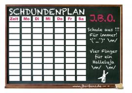 Der Schdundenplan