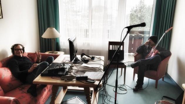 Bei der Arbeit am neuen Album…