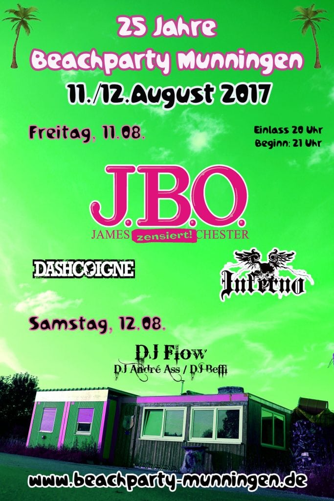 J.B.O. live: 11.08.2017 - Munningen, Beachparty