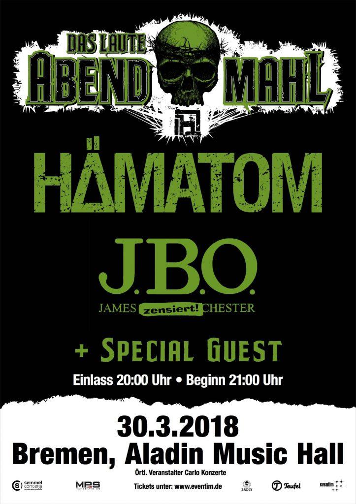 Festivals 2018: Das laute Abendmahl - 30.03.2018 - Bremen, Aladin