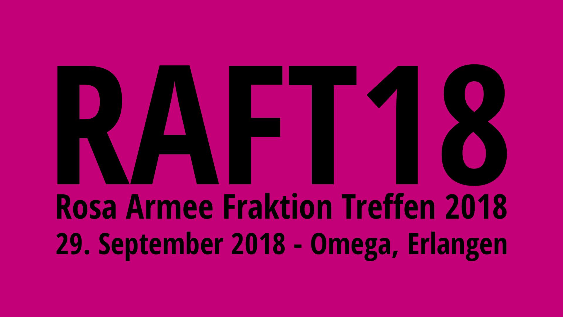 Rosa Armee Fraktion Treffen 2018: 29.09.2018 in Erlangen