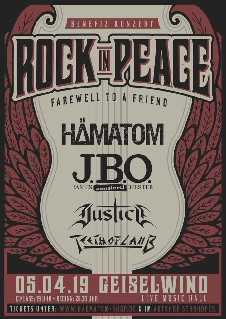 Rock in Peace: 05.04.19 - Eventzentrum Strohofer, Geiselwind