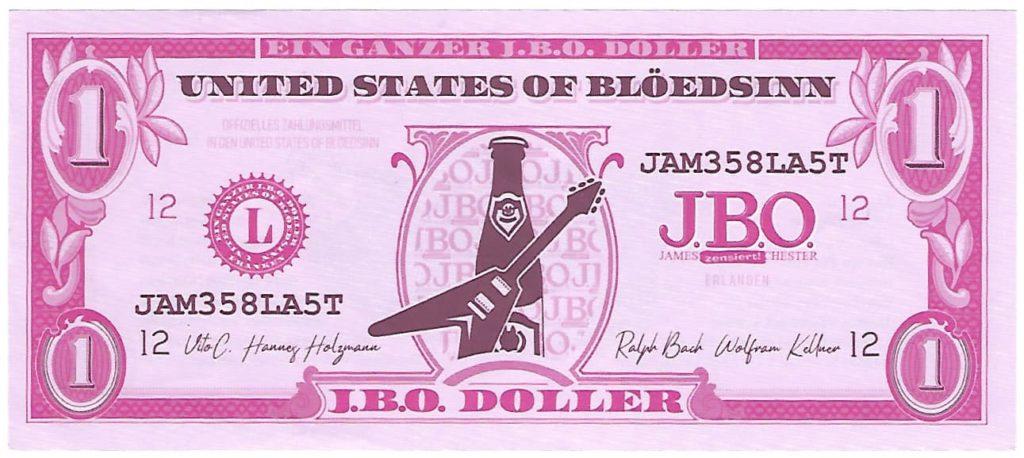 """Das """"offizielle"""" Zahlungsmittel in Weingarts: Der J.B.O. Doller"""