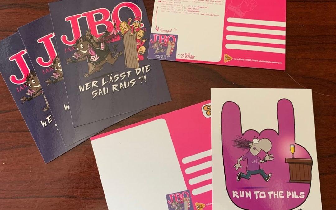 Cartoon-Postkarten im Ruhrgebiet
