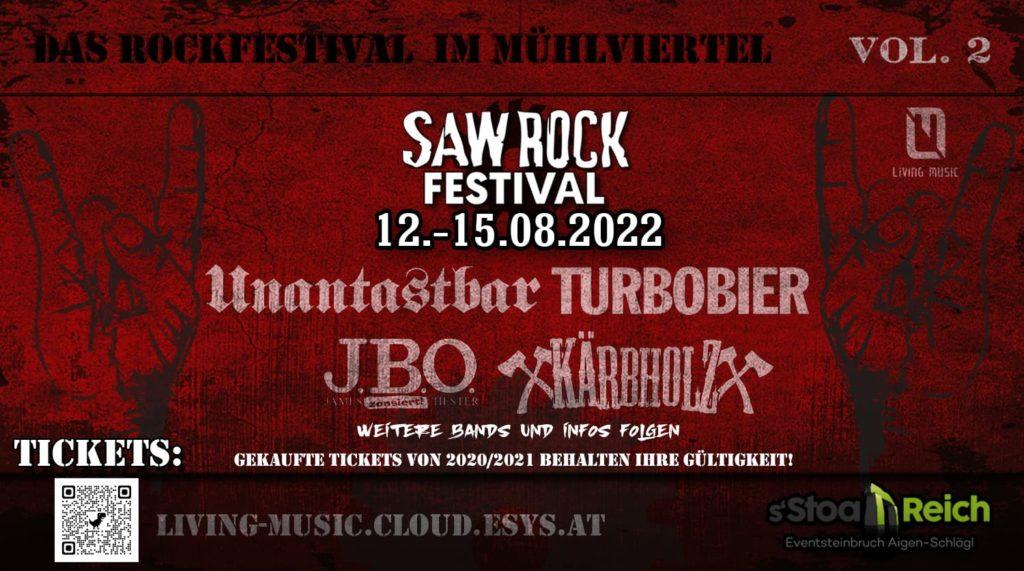 12. - 15. August 2022 - SAW ROCK Festival, Putzleinsdorf