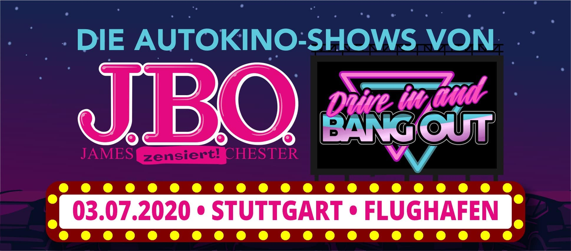 🚘  Drive in and Bang out: Freitag, 3. Juli 2020 - Live Sommer 2020, Stuttgart