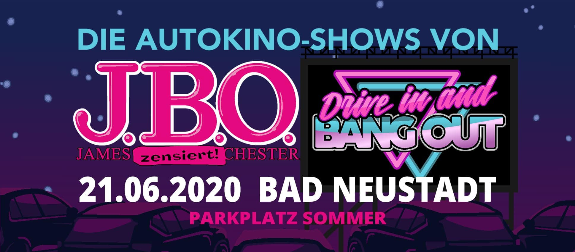 Drive in and Bang out: Sonntag, 21. Juni 2020 - Parkplatz Sommer, Bad Neustadt