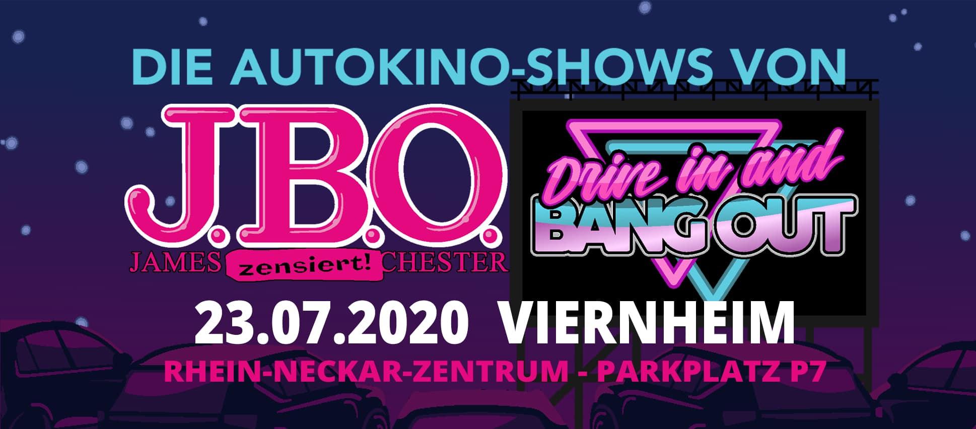 Drive in and Bang out: Donnerstag, 23. Juli 2020 - Rhein-Neckar-Zentrum - Parkplatz P7, Viernheim (Abgesagt!)