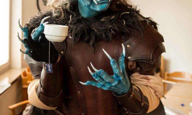 Instagram: Demon doing things: Demon having a good cup of tea… 👹😁…